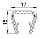 JOINT U PVC A ARMATURE METALLIQUE P0018